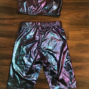 Other - Metallic top and shorts